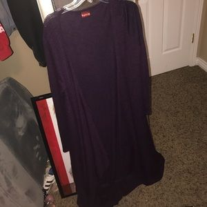 Sweaters - long purple cardigan